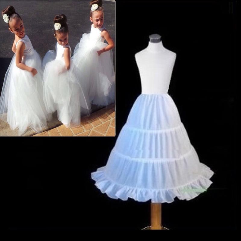 In Stock A-line 3 Hoops Children Kid Dress Bridal Petticoat Crinoline Underskirt Wedding Accessories For Flower Girl Dress