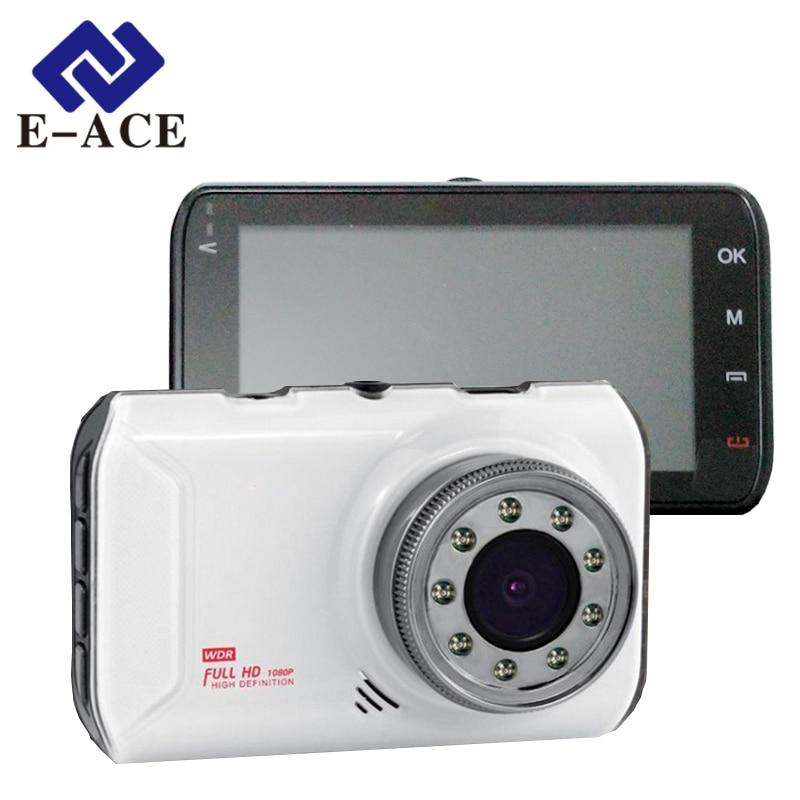 E-ACE Car Dvr Camera Full HD 1080P Video Recorder Novatek 96223 Chip With 9 IR Lamps Night Vision Automotive Registrar Dash Cam