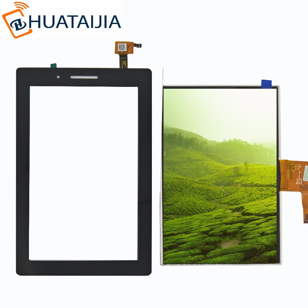 For Lenovo TAB 3 Essential 710F Tab3 TB3-710F TAB3-710F Touch Screen Digitizer LCD display Sensor Replacement Parts Black test good 7 inch lcd display screen panel inner screen replacement parts for lenovo tab 3 7 0 710 tab3 710f
