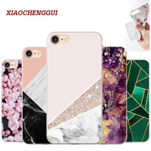 XIAOCHENGGUI Marble pattern Phone Soft silicone Case Cover For iphone 5s 5 SE 6 6s 8 6/7/8 plus