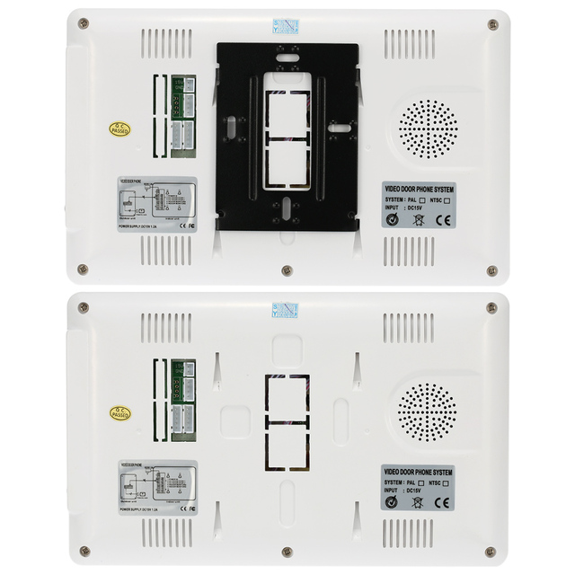 """7"""" Wired Video Door Phone System Visual Intercom Doorbell with 1*800x480 Monitor + 1*700TVL Outdoor Camera for Home Surveillance 2"""