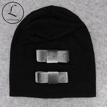 GZHilovingL Fashion Women Beanies Cap Hats 2018 Velvet Bows Autumn Winter Ribbed Slouch Hat For Ladies