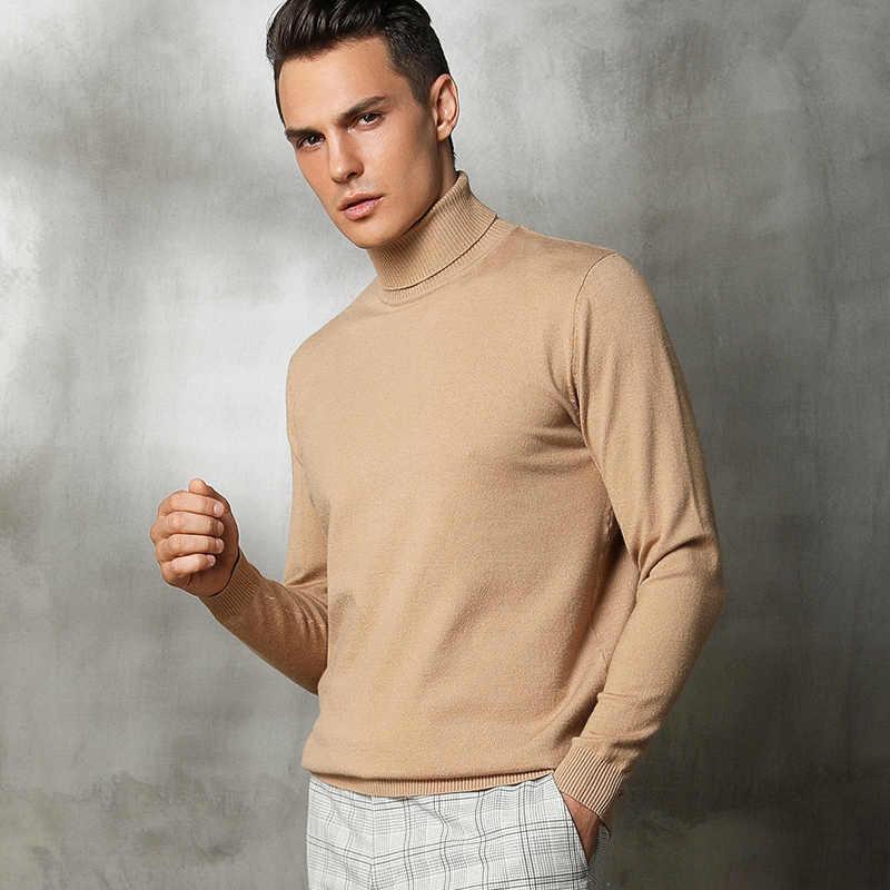 새로운 저장소 제로 이익 새로운 패턴 남자 니트 캐시미어 울 스웨터 높은 칼라 느슨한 스타일 부드러운 따뜻한 안티 필링 풀 오버