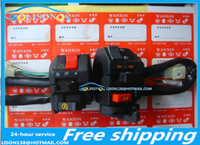 About 125 motorcycles modified aluminum multifunction switch assembly (without flash function) Free Shipping
