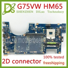 Kefu G75VW материнская плата для ноутбука ASUS G75VW G75V G75VX поддержка 2D разъем 4 слот для карт памяти ddr3 HM65 материнская плата для ноутбука