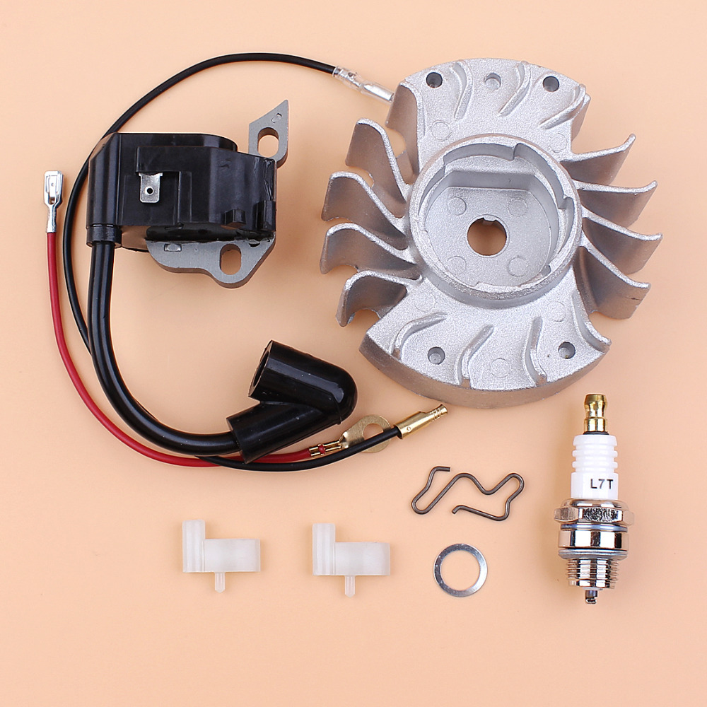 Flywheel Ignition Coil Magneto Wire Spark Plug Kit For STIHL MS180 MS170 MS 180 170 017 018 Chainsaw