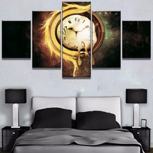 Framed 5 Piece Canvas Art Melting Time Poster Cuadros Decoracion Paintings on Canvas Wall Art for Home Decorations Wall Decor цена 2017