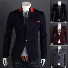 Hohe qualität 2014 herrenbekleidung blazeroberbekleidung anzug dünne beiläufige anzüge Männer slim fit Blazer 7 arten (ML-XL-XXL) freies verschiffen