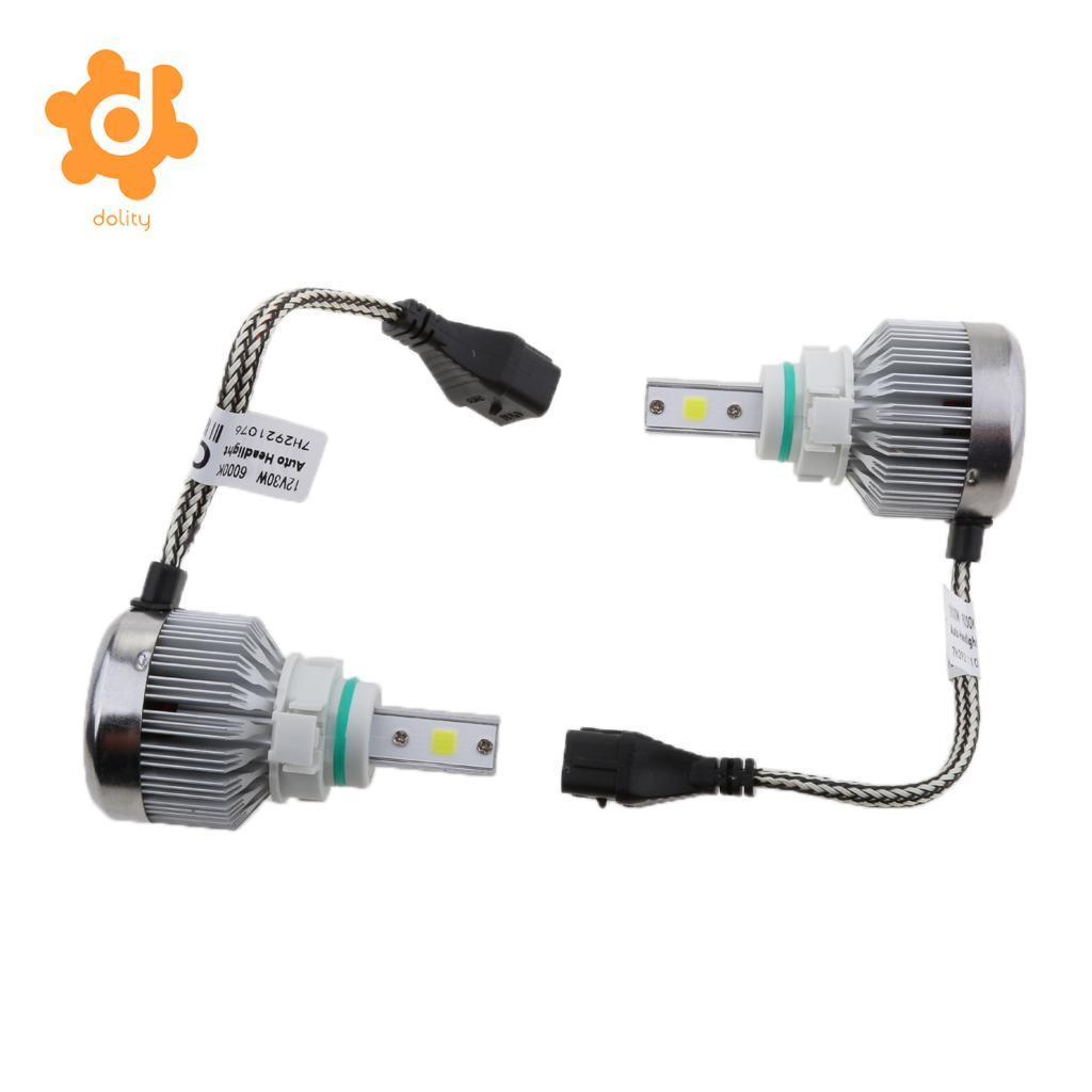 Baoblaze 12V 60W LED Headlight Hi/Low Beam Fog Driving DRL Lamp Bulb 5202