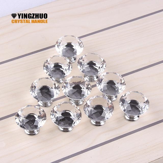 1 pack/10 Stücke 30mm Diamant form kristallglas Knob Schrank ...