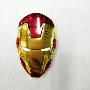 Image 5 - 6x3.8cm New 3D Chrome Metal Iron Man Car Emblem Stickers Decoration The Avengers Car Styling Decals Exterior Accessories
