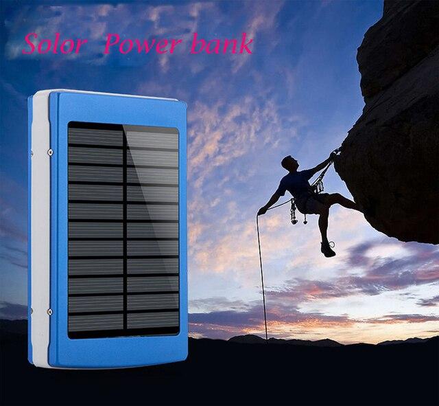 Высокая рекомендовать 20000 мАч Солнечной Энергии Банк Внешний солнечное зарядное устройство powerbank для всех мобильных телефонов для открытом воздухе
