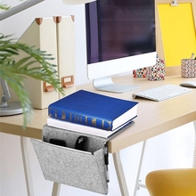 Storage Pockets Bags Felt Bedside Hanging Organizer Bag with 2 Small for Organizing Tablet Magazine Cellphone