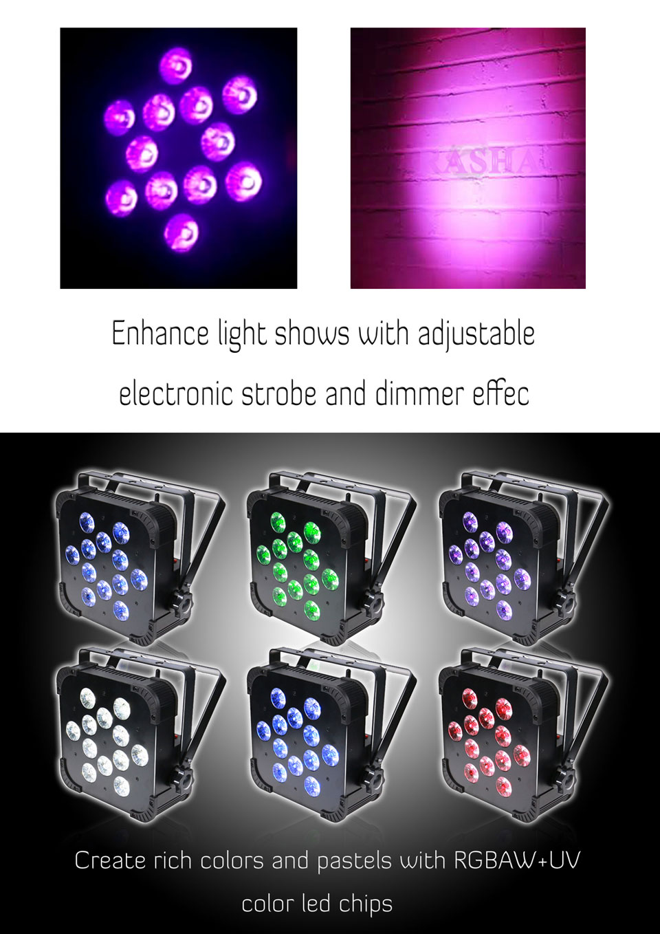 Discount Hex 12*18W 6in1 RGBAW UV Wireless LED Flat Par Light LED Slim Par Can Stage Projector For Event Party DMX Stage Light