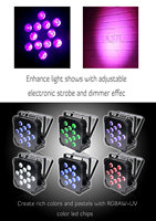 Korting Hex 12*18 W 6in1 RGBAW UV Draadloze LED Platte Par Licht LED Slim Par Kan Podium Projector Voor Event Party DMX Stage licht