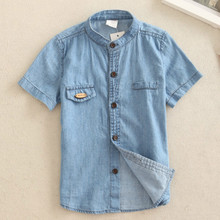 The new summer childrens fashion denim shirt casual special offer free shipping