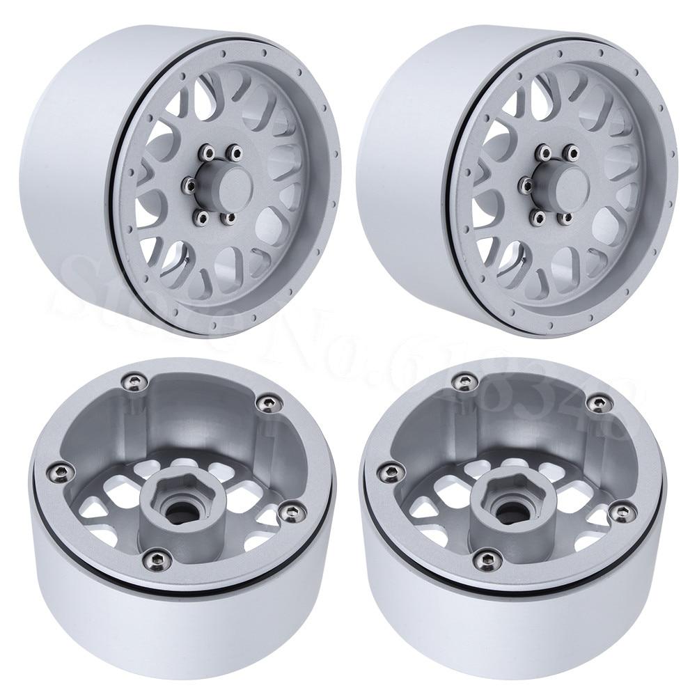 4pcs TRX4 Aluminum Alloy 2 2 Beadlock Wheel Rims for 1 10 RC Rock Crawler Axial