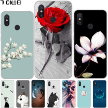 hot deal buy mi 8 case for xiaomi mi8 case 6.21 silicone soft flower back cases for xiaomi mi 8 case animal fundas for xiaomi mi8 coque tpu