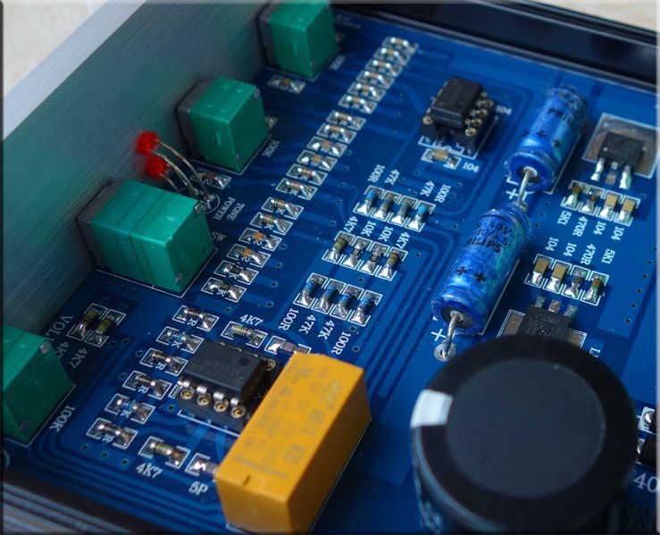 TỰ LÀM PRE-AMP F1-MK2 phiên bản cải tiến NE5532 * 2/OPA2604 LME49720/TDA8920 * 2 Tone preamplifier Với treble alto điều chỉnh âm bass
