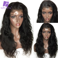 Luffy Pre Plucked Full Lace Human Hair Wigs For Women Glueless Body Wave Brazilian Non remy Hair With Baby Hair Bleached Knots