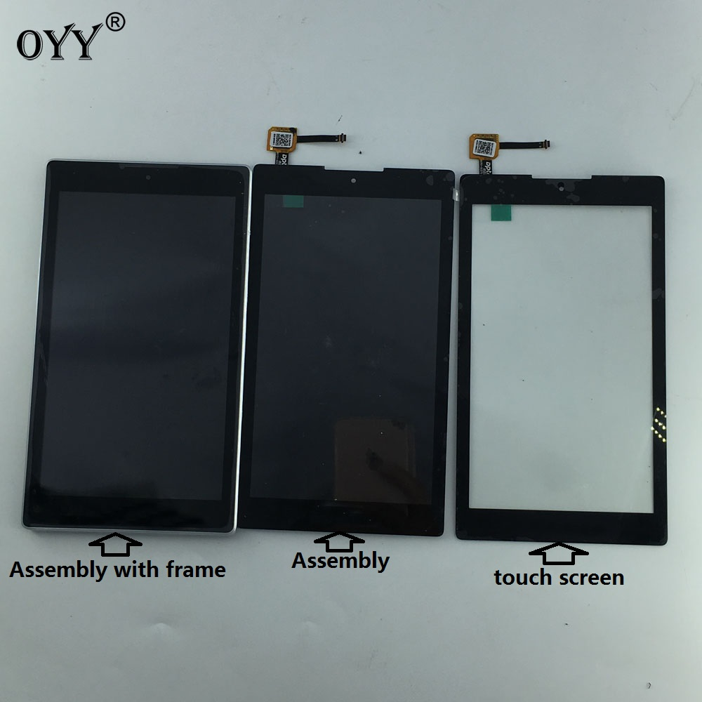 LCD Display Panel Screen Monitor Touch Screen Digitizer Glass Assembly with frame For ASUS ZenPad C 7.0 Z170MG Z170 MG used parts lcd display monitor touch screen panel digitizer assembly frame for asus memo pad smart me301 me301t k001 tf301t