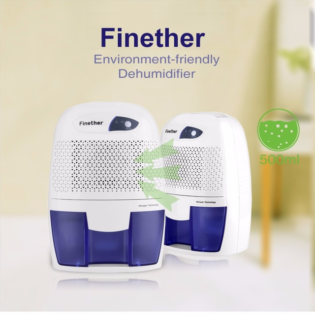 Finether 500ml Mini Air Dehumidifier Portable Dryer Home Bathroom Kitchen  Garage Damp XROW 600B