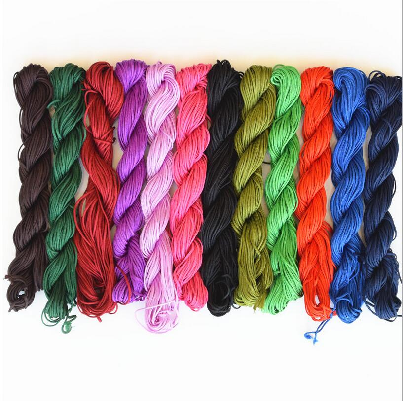 1mm 25m Nylon Beads Jewelry Cord Thread Chinese Knot Macrame Rattail Rope For DIY Handicraft Tool Hand Stitching Thread Z1181 in Jewelry Findings Components from Jewelry Accessories