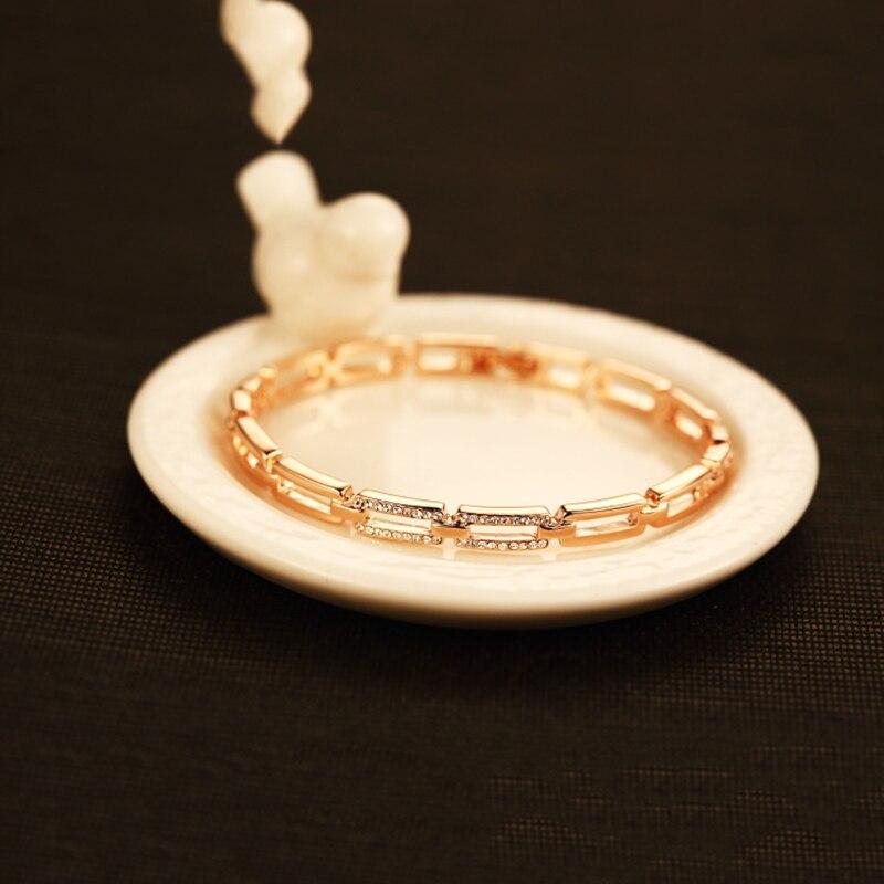 Marca oco para fora pulseira de braço de cristal para mulher pulseira de pulseira de prata de ouro pulseira de braço de pulseira de pulseira de pulseira de prata presente