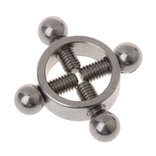 2pcs Stainless Steel Circle Screw Clamp Adjustable Nipple Ring Body Sex Game Toy