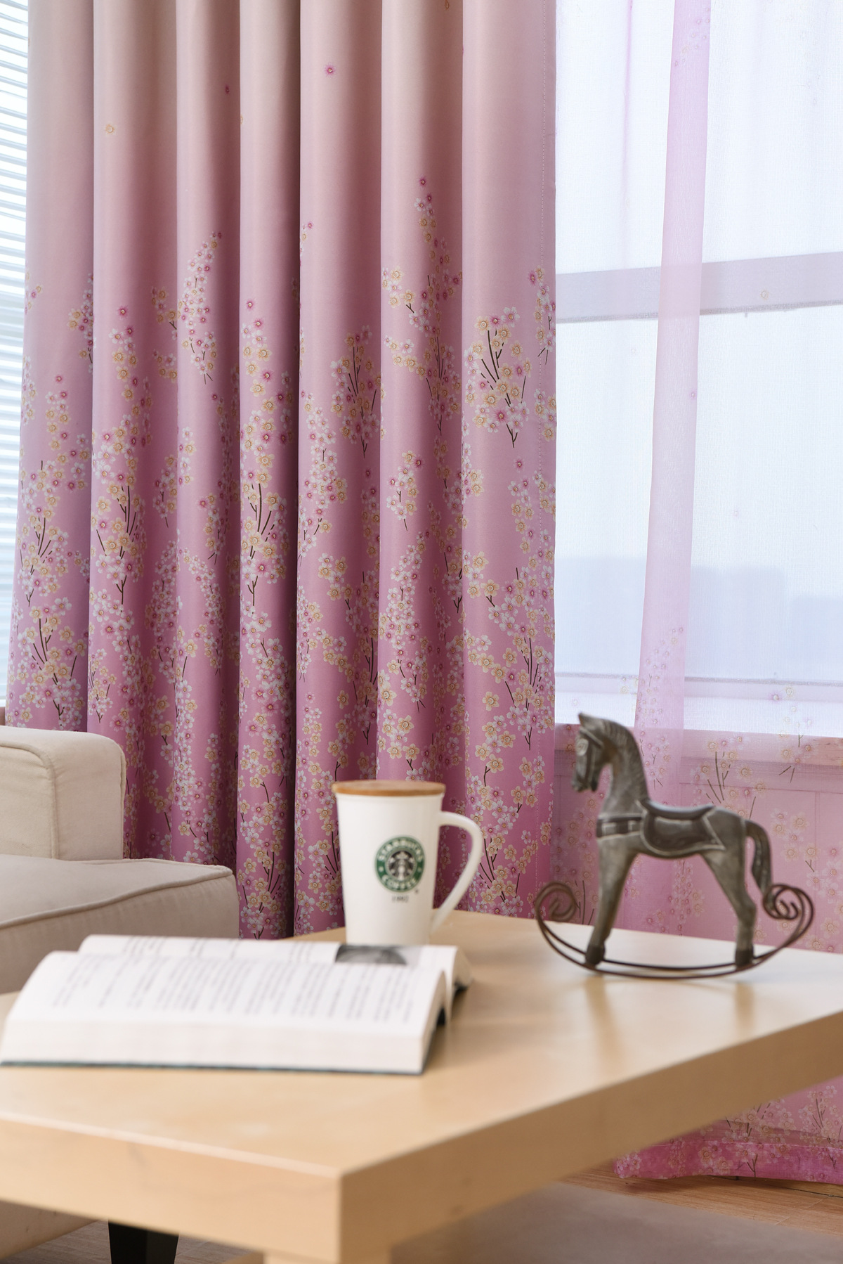 Pink Living Room Curtains Us 12 Slow Soul Pink Blue Pastoral Bedroom Living Room Curtain Lavender Floral French Window Tulle Curtains Printed For Kitchen 3d In Curtains