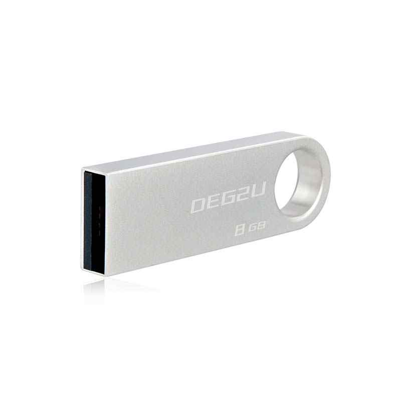2019 o Logotipo Personalizado Usb Flash Drive GB GB 8 32 16GB Pendrive de Metal Prata USB Cle 4GB 128G Disco DJ Memory Stick 64GB Freeshipping