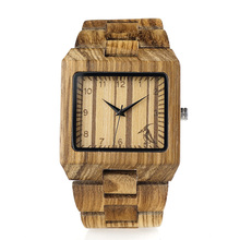 2017 Brand Mens Watches BOBO BIRD All Black Wood Watches with Wood Strap Wood Gift box relogio masculin C-L24
