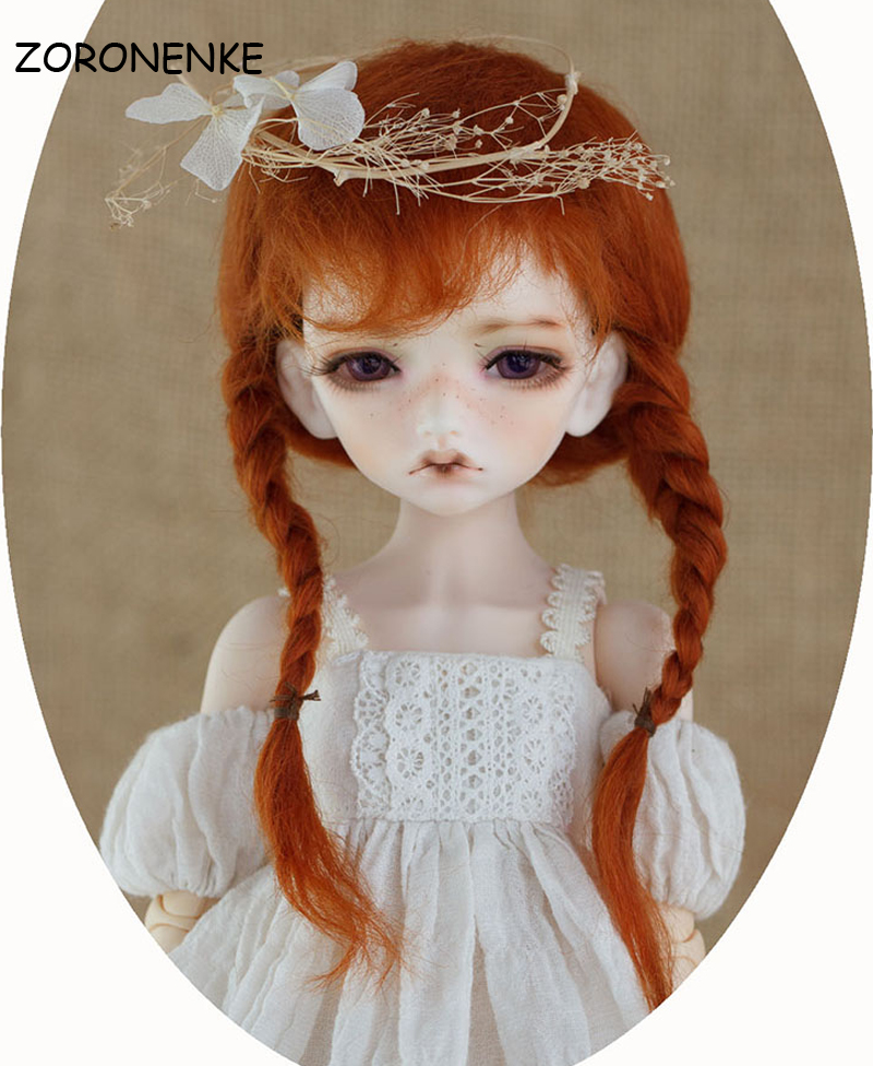 ZORONENKE 2018 New Arrival 1/3 1/4 1/6 Bjd SD Doll Wig Fashion Style Mohair Wire Doll Wig Hair For Dolls Accessories synthetic bjd wig long wavy wig hair for 1 3 24 60cm bjd sd dd luts doll dollfie cut fringe