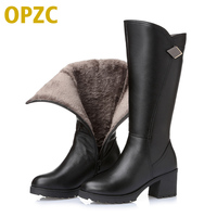 2016 Winter New Genuine Leather Women Boots Thick With Gaotong Women S Motorcycle Boots Large Size