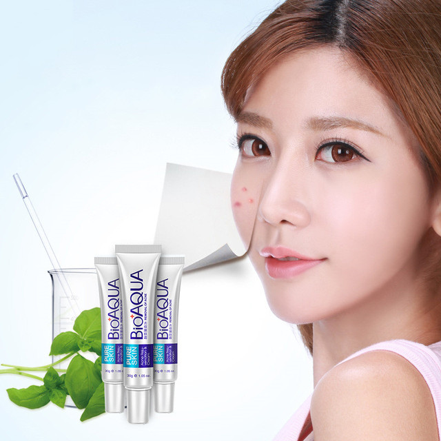12Pcs BIOAQUA  Anti Acne Cream Oil Control Shrink Pores Nourish Skin Acne Scar Remove face cream 30g