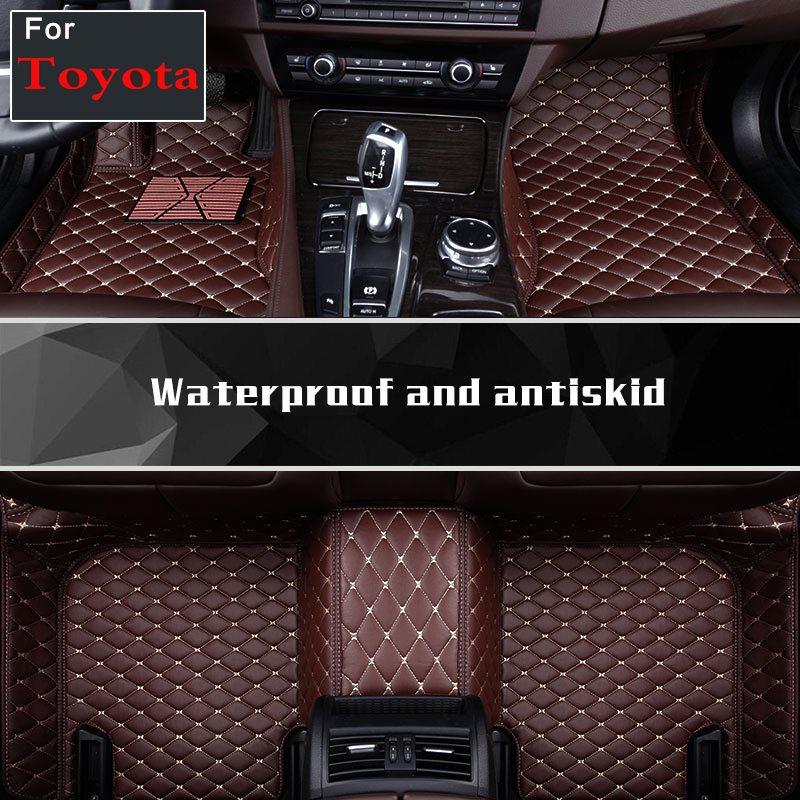 Tapis de sol de voiture 2019 tapis de sol 5/6/7 sièges autocollant personnalisé pour Toyota Corolla Rav4 Corolla Prado Fjcrown toundra Vios Reiz Prius