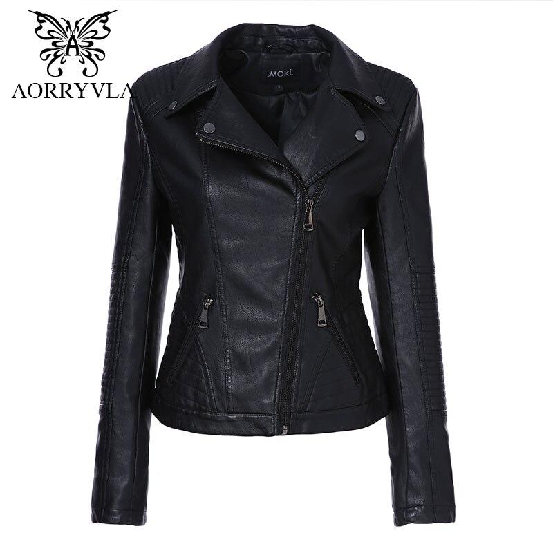 Logisch Aorryvla 2019 Neue Frühjahr Frauen Faux Leder Jacke Mode Schwarz Farbe Drehen-unten Kragen Reißverschlüsse Kurze Damen Pu Leder Jacke Haus & Garten