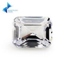 4x6 ~ 9x11 мм окантовка emarald cut Белый 5a свободный кубический