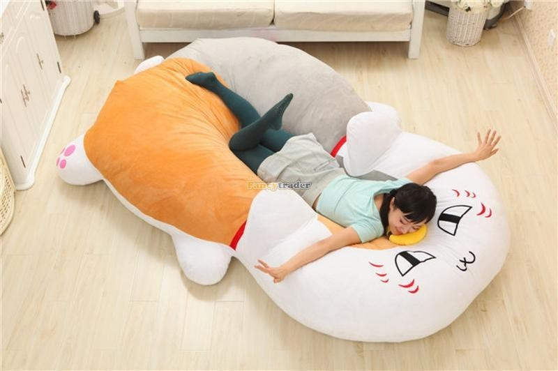 Fancytrader 210cm X 150cm Huge Giant Cute Cat Tatami Bed Carpet Sofa, Gift For Girls, Free Shipping FT90287 (10)