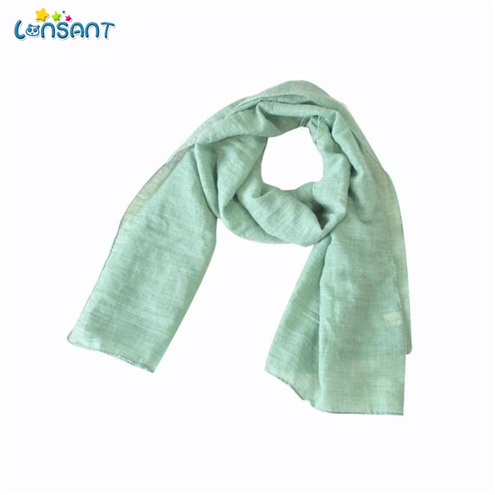 LONSANT ew Autumn Winter Boys Girls kids Cute Scarf Cotton O Ring Neck Scarves Literary Solid Cute Scarves