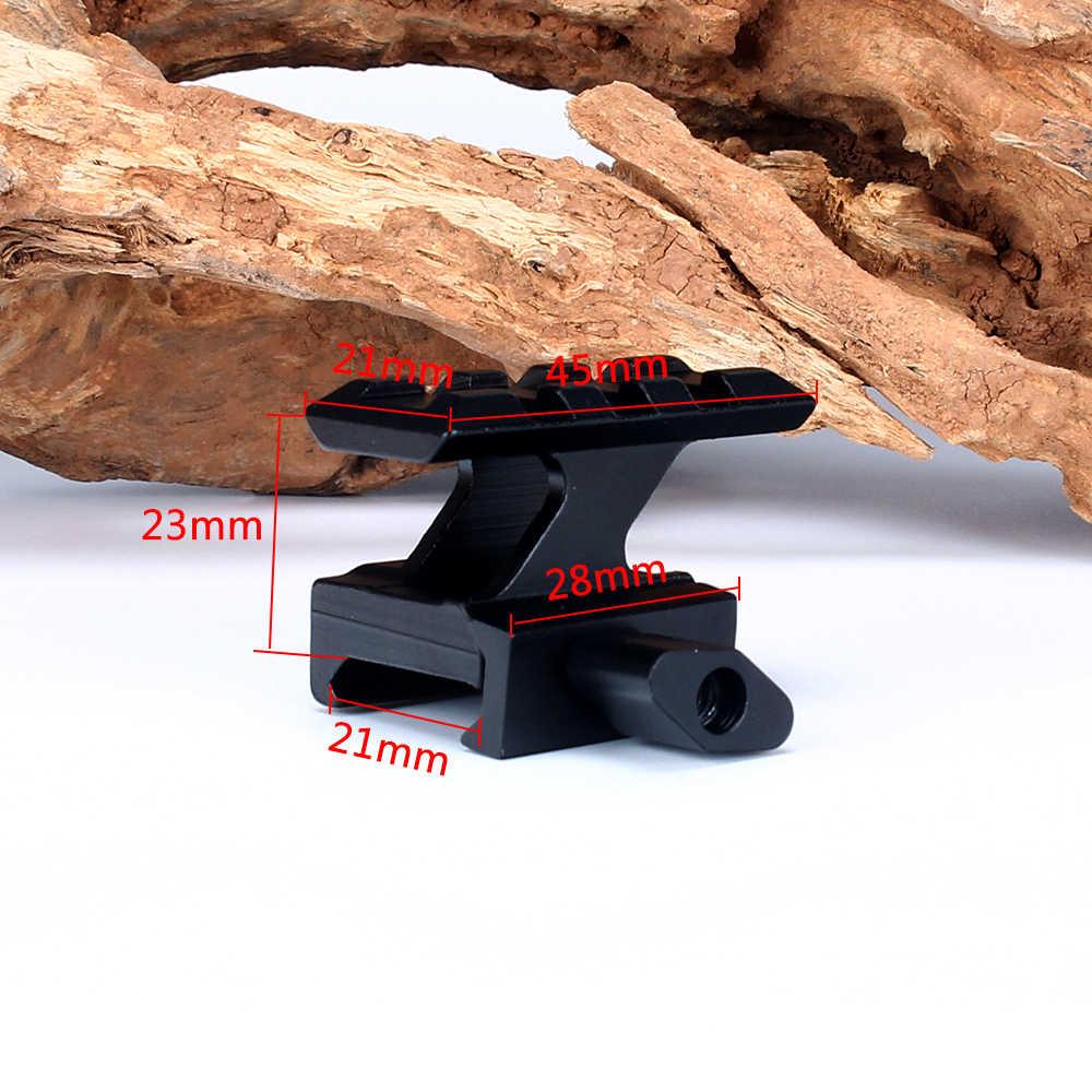 Ohhunt haut de gamme Compact tactique point rouge vue Riser mont 3 fentes Picatinny tisserand Rail chasse portée monte accessoires