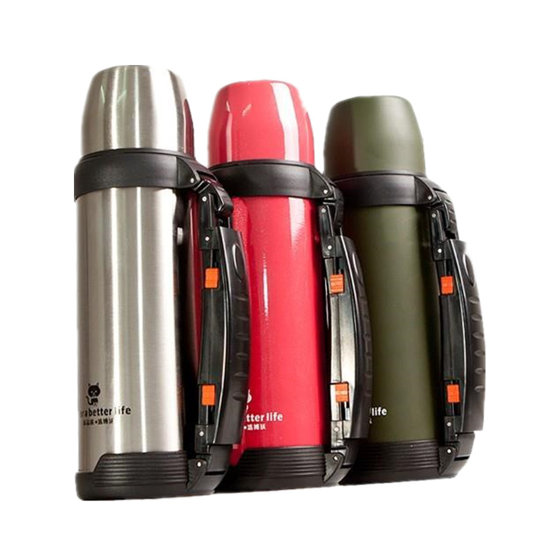 1000ML Thermos Vacuum Stainless Steel Thermos Flask Water Bottle three colors top quality