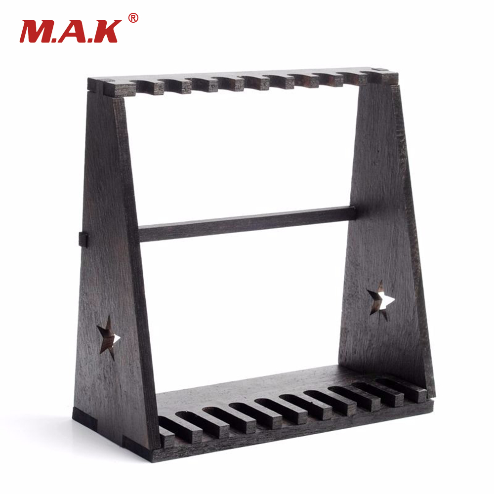 <font><b>1/6</b></font> <font><b>Scale</b></font> Weapons <font><b>Gun</b></font> Model Toys Accessory Wood Storage Rack Stand Rifle Rack Toys Gifts Collections image
