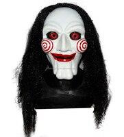 Halloween Carnival Jigsaw Latex Face Electric Saw Mask