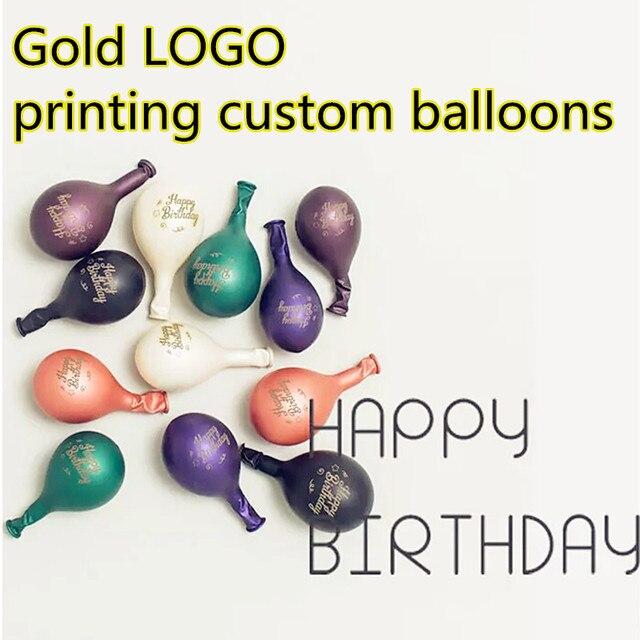 Złoty LOGO drukowanie niestandardowe balony logo balon drukowanie na wydarzenie promocja spersonalizowane balony