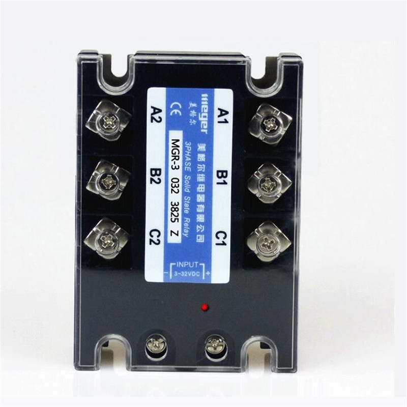 25A Mager SSR MGR-3 032 3825Z DC-AC Three phase solid state relay DC control AC 25A 380V mgr 1 d4825 single phase solid state relay ssr 25a dc 3 32v ac 24 480v