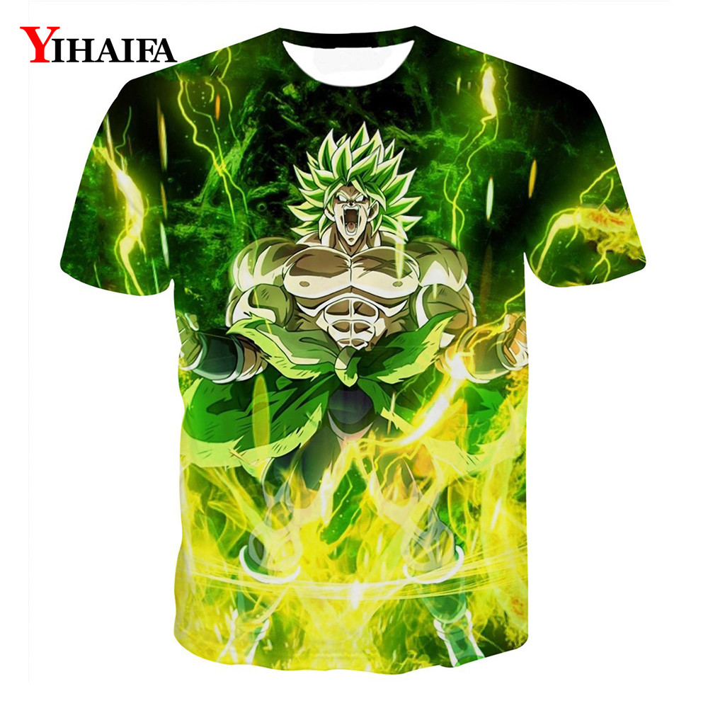 Newest Men T shirt 3D Print Dragon Ball Z Goku Graphic Tees Anime Casual Tee Shirts Funny Cartoon Short Sleeve Tops(China)