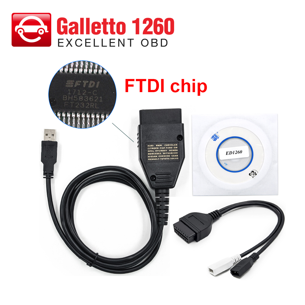 US $10 99 |Galletto 1260 ECU Chip Tuning Scanner EOBD/OBD2/OBDII Flasher  Galletto 1260 ECU Flasher engine tuning tool-in Engine Analyzer from