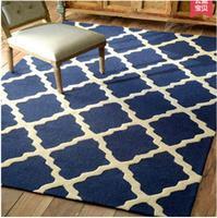 Modern rectangle Acrylic Large Carpet For Living Room Bedroom Rug blue design bedroom fashion custom rug fitting room mat