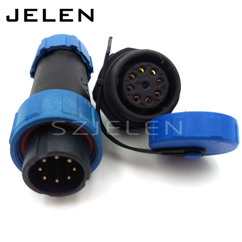SY1710, 8 pin waterproof connector, IP68, Automotive waterproof connector 8-pin plug socket, LED power cable wire connectors sy1710 8 pin waterproof connector ip68 automotive waterproof connector 8 pin plug socket led power cable wire connectors